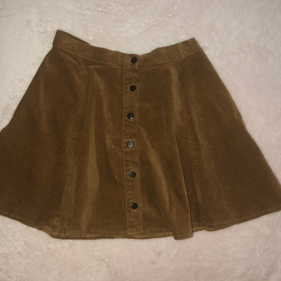 6c3bf5b6a9 Brandy Melville Skirts   Button Down Corduroy Skirt   Poshmark